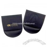 High quality bonded leather mouse pad with wrist rest