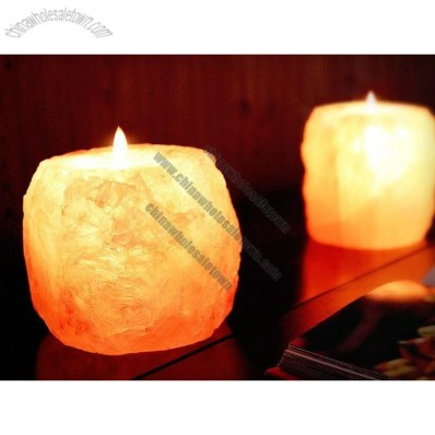 Himalayan Ionic-Crystal Natural-Salt Candle Holder