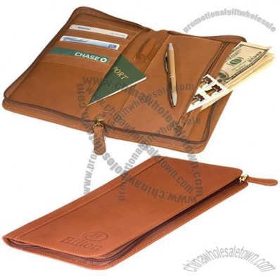 Hoboken Zip-Around Document Holder - Calfskin
