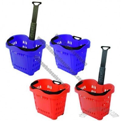 Hold Everything 43L Rolling Shopping Baskets