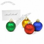 Holiday Christmas Ornament Place Card Holders