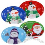 Holiday Oval Plastic Serving Trays