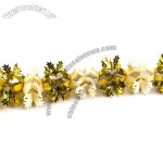 Holly And Star Foil Garland - 3m x 15cm