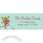 Holly Bunch Border Address Label