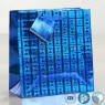 Hologram Paper Bags Laser Foil Paper Bag with Hang Tag