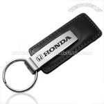 Honda Black Leather Key Chain