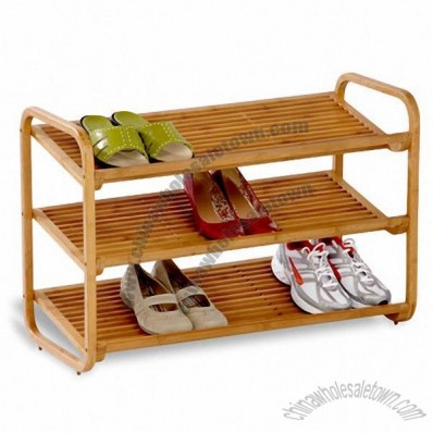 Honey-Can-Do 3-Shelf Bamboo Shoe Rack