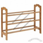 Honey-Can-Do 9 Pair 3 Tier Bamboo Shoe Rack