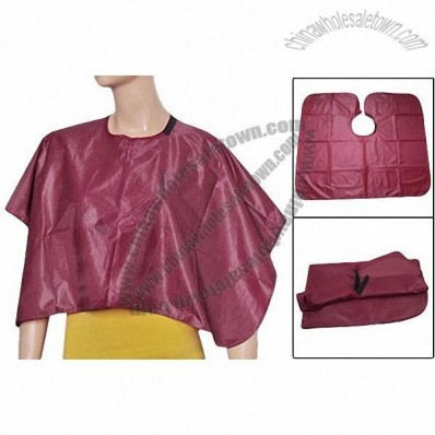 Hook and Hoop Closure Burgundy Comb Out Barber Cape Haircut Cloth