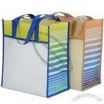 Horizons Laminated Shopper Tote Bag - Stripes