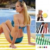 Horizontal cabana towel with stripes