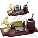 Horse Digital Desk Calendar Pen Holder Business Card Memo Holder