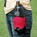 Hot Pink Leather Beer Holster