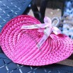 Hot Pink Palm Hand Fans