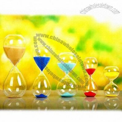 Hourglass, Sand Timer with Large Logo Space