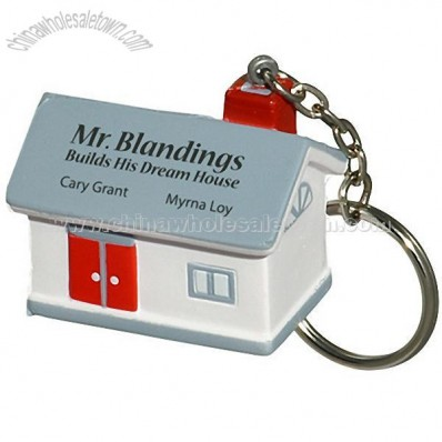 House Key Chain Stress Balls