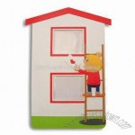 House Shaped Colorful Plastic PVC Photo Frame