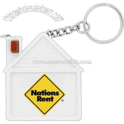 House Tape measure with key chain
