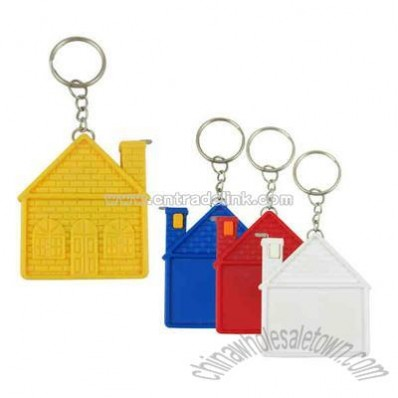 House shape 3' tape measure with keychain