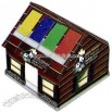 House shaped acrylic note holder with lid
