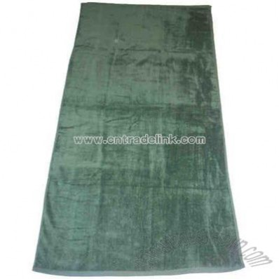 Hunter Green Velour Beach Towel