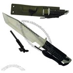 Hunting knife with fire starter, 11