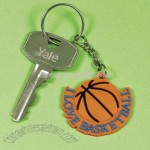 """I Love Basketball"" Key Chains"