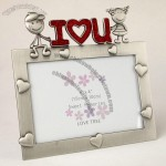 I Love U Metal Valentine Photo Frame