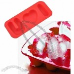 I Love You Red Heart Shape Silicone Ice Cube Tray