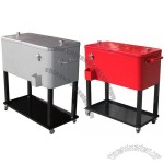 ICE Box Rolling Cooler with Wheels and Tray