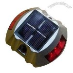IP68, Anti-high/Low Temperature LED Solar Road Stud with 2.5V/90mA Solar Panel