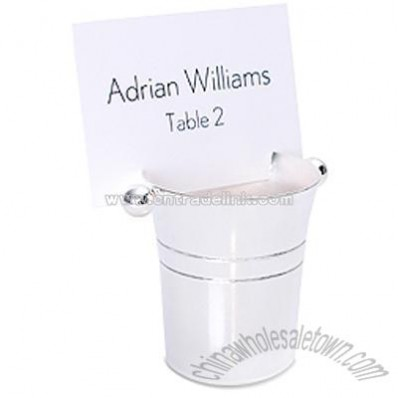 Ice Bucket Place Card Holder