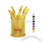 Ice Color Cup Desktop pen holder with bright vivid colors.