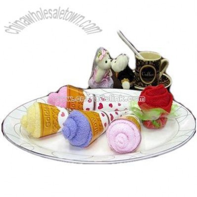 Ice Cream Cake Towel for Promotional Gifts