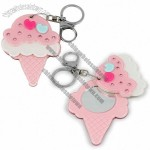 Ice Cream Shaped Mirror with Keychain