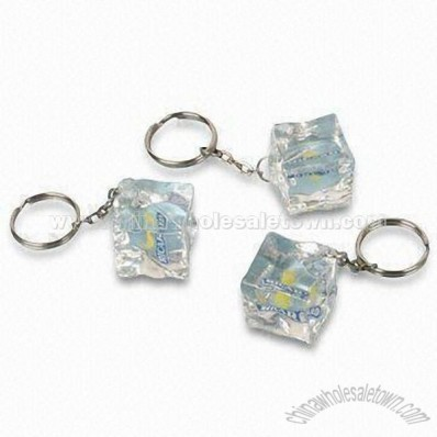 Ice Cube Bottle Opener Keychain