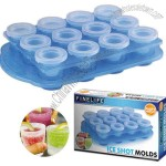 Icy Shots Frozen Ice Shot Glass Mold - Makes 12 Shot Glasses