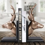 Imitation Copper Deer Head Bookend