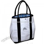 Imprinted Blue Wide Stripe Tote Bag