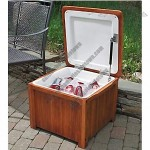 Improvements Wooden Outdoor Cooler Box