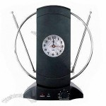 Indoor Antenna with Clock, Easy to Install and Operate