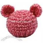 Infant Pink Bear Hat To Match Cocoon