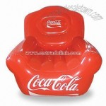 Inflatable PVC Chair Printed with Coca-cola Script