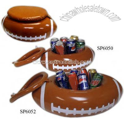 Captivating Inflatable Football Shaped Can Cooler