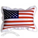 Inflatable mini US flag pillow