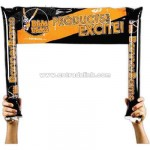 Inflatable noisemakers with attached banner