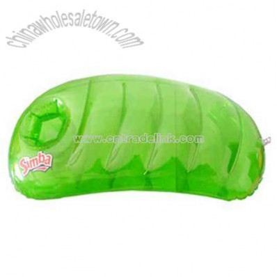 Inflatable pea shaped pillow