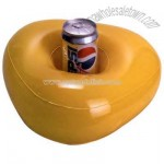 Inflatable triangle shape drink holder