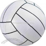 Inflatable white volley ball