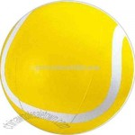 Inflatable yellow tennis ball